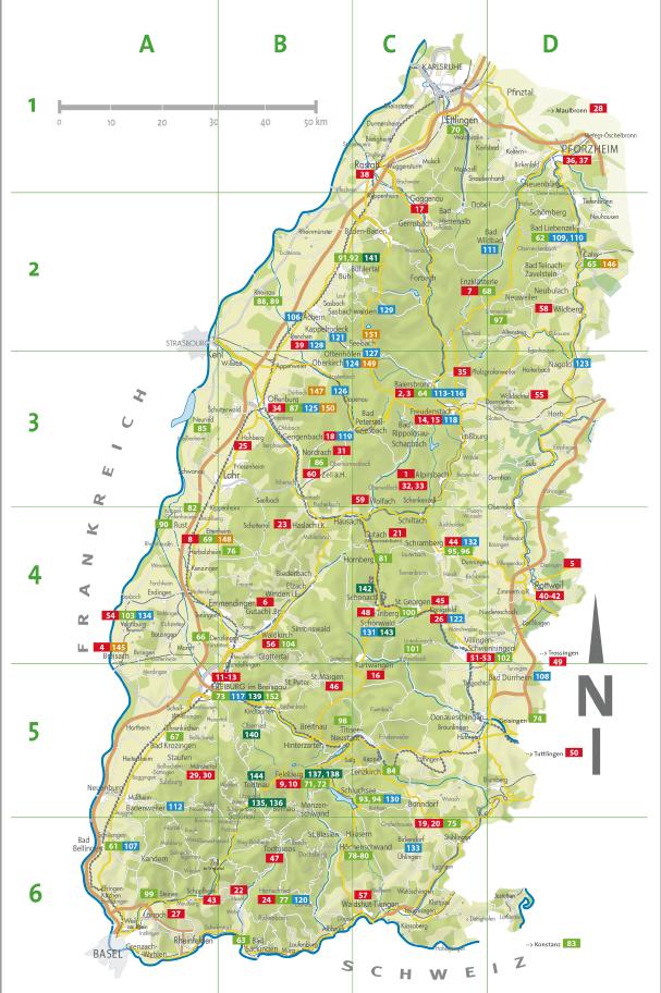 מפת אטרקציות כרטיס היער השחור